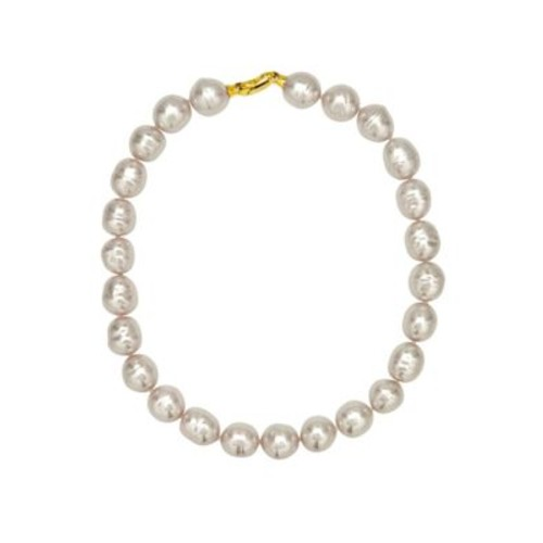 14MM White Baroque Pearl Necklace