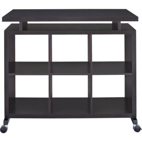 Altra Furniture Lincoln Espresso Standing Desk with Shelves