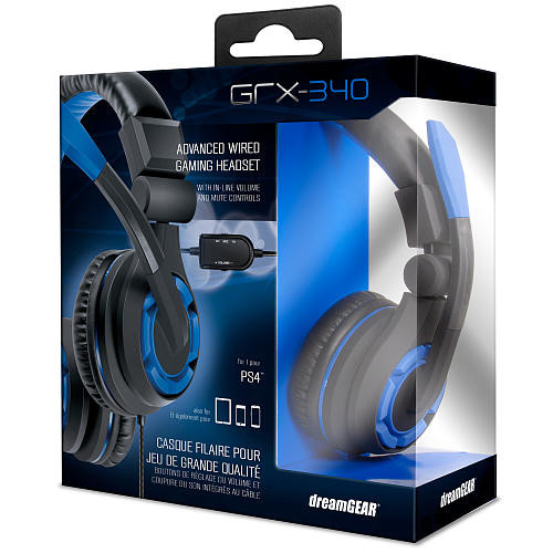 dreamGEAR GRX-340 Advanced Wired Gaming Headset for Sony PS4