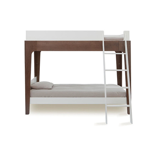 Perch Bunk Bed, White/Walnut