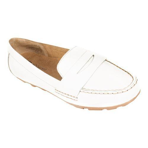 Women's White Mountain Skipper White Leather