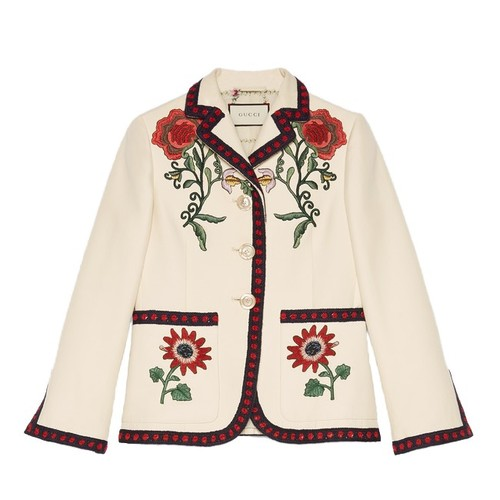 GUCCI Embroidered Cotton Jacket