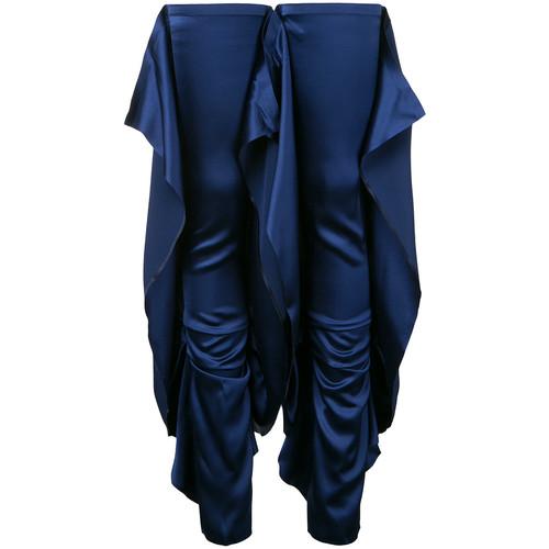 draped thigh high leg warmer