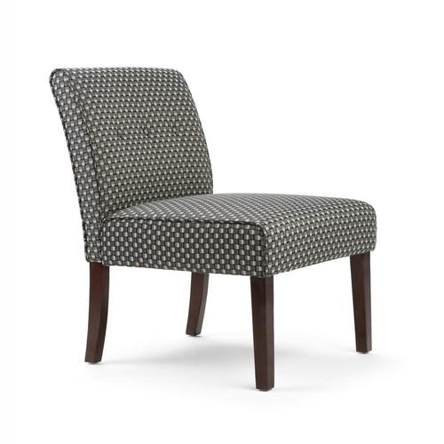 Simpli Home Sallybrook Grey Fabric Slipper Chair