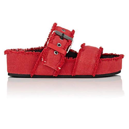 Rag & Bone Evin Denim Platform Slide Sandals