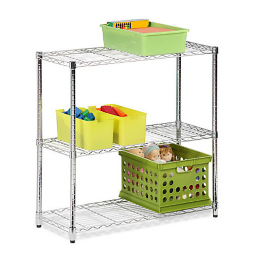 Honey-Can-Do Urban Steel Adjustable NSF Shelving Unit, 3-Tiers, Chrome