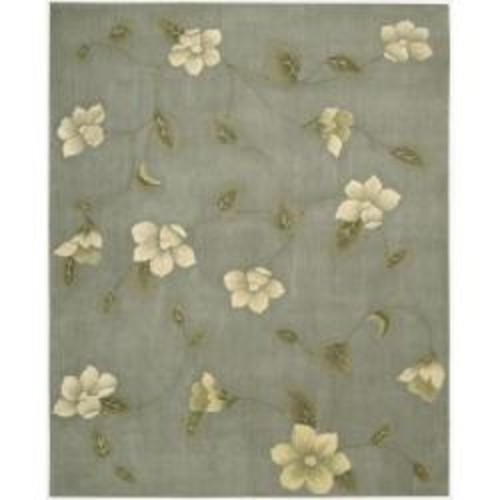 Nourison Hand-tufted Julian Floral Stone Floral Wool Rug (6' Round)