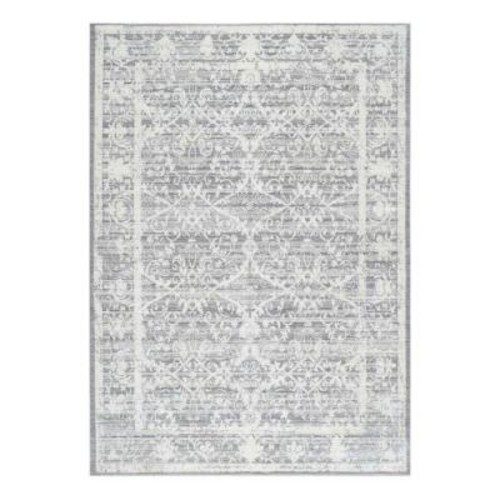 nuLOOM Vintage Damaris Grey 9 ft. x 12 ft. Area Rug