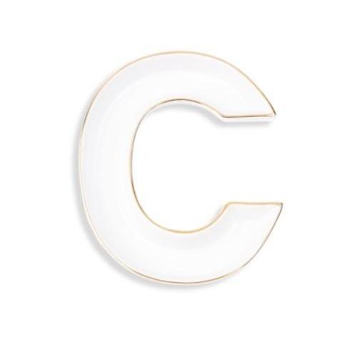 Prima Donna - White Porcelain Monogram Trinket Tray