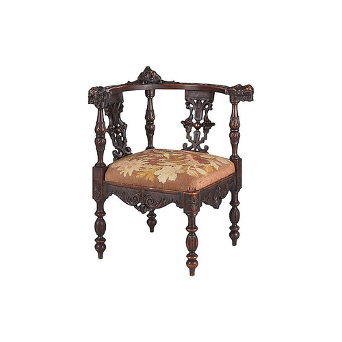 French Renaissance Revival Corner Chair