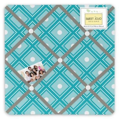 Sweet Jojo Designs Mod Elephant Memo Board in Turquoise/White