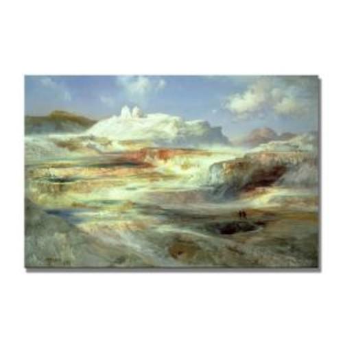 Trademark Fine Art 22 in. x 32 in. Jupiter Terrace, Yellowstone Canvas Art