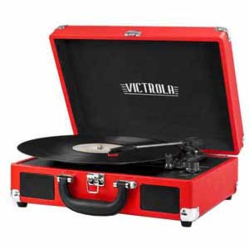 Victrola 3-Speed Vintage Bluetooth Turntable - Red