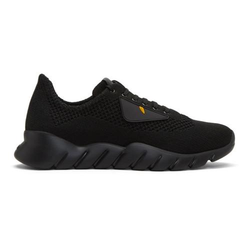 FENDI Black Knit 'Bag Bugs' Sneakers