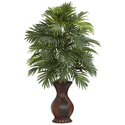 Nearly Natural Areca Palm with Urn Silk Plant