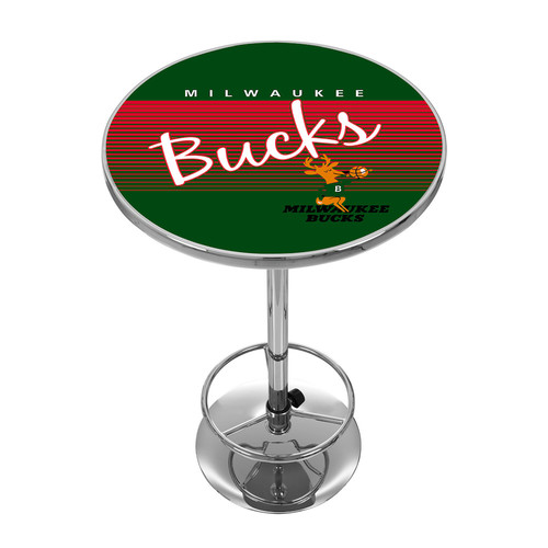 Milwaukee Bucks Hardwood Classics Chrome Pub Table