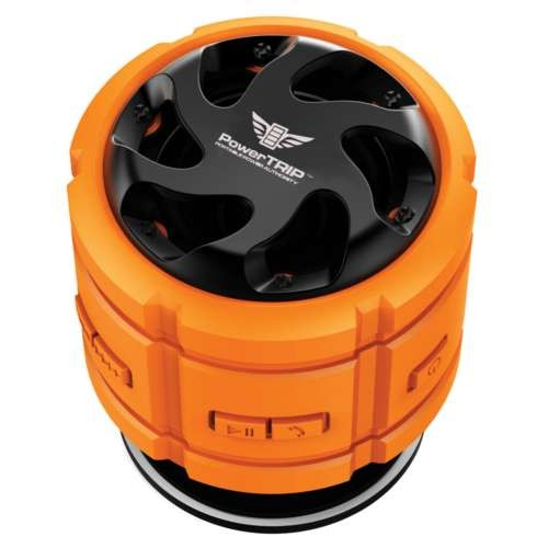 PowerTrip BOOMR Bluetooth Speaker  3W, Waterproof, IPX7, Submersible, Rugged, Built In Mic, Speaker Phone Function, LED Indicators, Rechargeable 700mAh Battery, Smartphone Compatible - PT-BX7