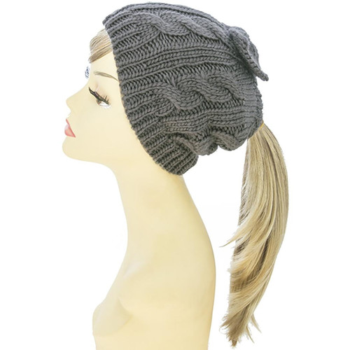 Bow Accent Knit-Beanie