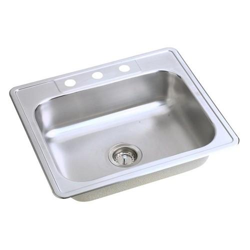 Elkay Dayton Drop-in Stainless Steel 25 in. 3-Hole Single Bowl Kitchen Sink