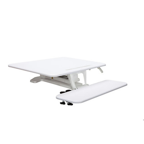 OFM Sit-To-Stand Workstation, Small, White