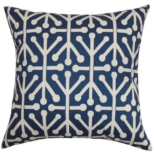 The Pillow Collection Pillowcases & Shams Heath Geometric Euro Sham Blue Natural