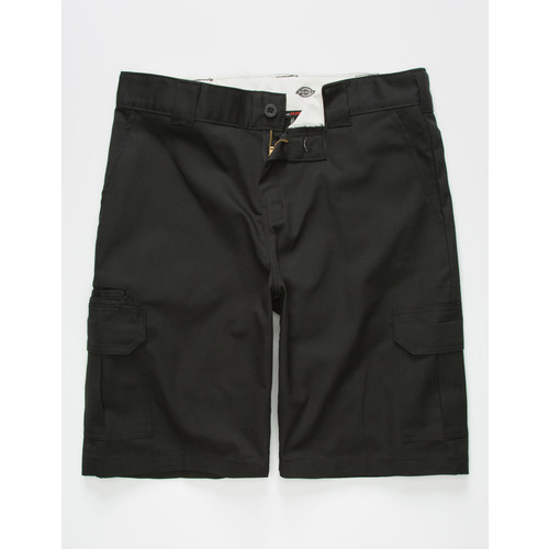 DICKIES Flex Relaxed Fit Black Mens Cargo Shorts