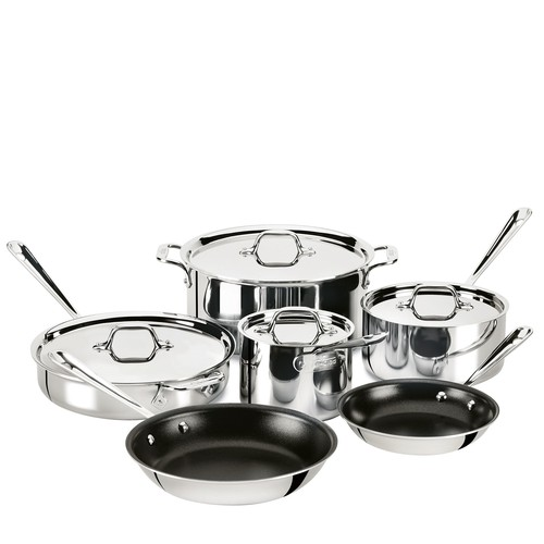 All-Clad Stainless Steel 10-Piece Nonstick Cookware Set
