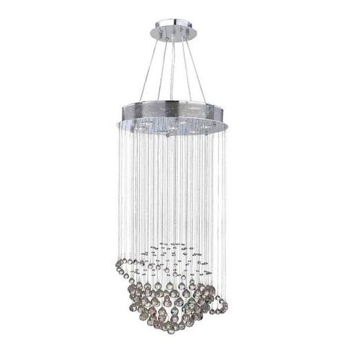 Modern Euro Planet Collection 7 Light Chrome Finish Crystal Galaxy Flush Mount Chandelier 18