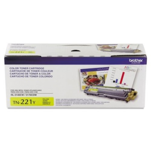 Brother TN221 or TN225 Series Toner Cartridge, Select Color/Yield [color : ; OriginalColor : :Yellow - 1]