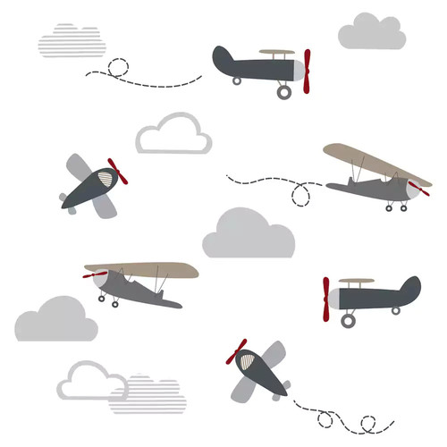 Lambs & Ivy Evan Airplanes & Clouds Wall Decal Set