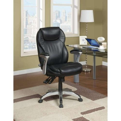 Ergo-Executive Chair Black Leather - Serta