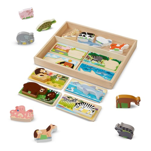 Melissa & Doug Animal Picture Boards Wooden Puzzle - 24-Piece