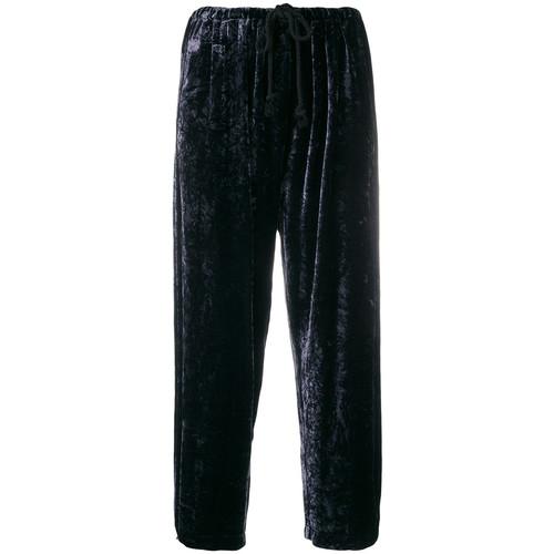 cropped drawstring track pants