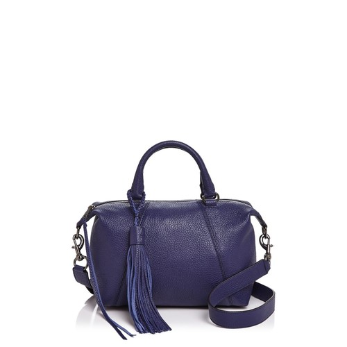 REBECCA MINKOFF Isobel Small Pebbled Leather Satchel
