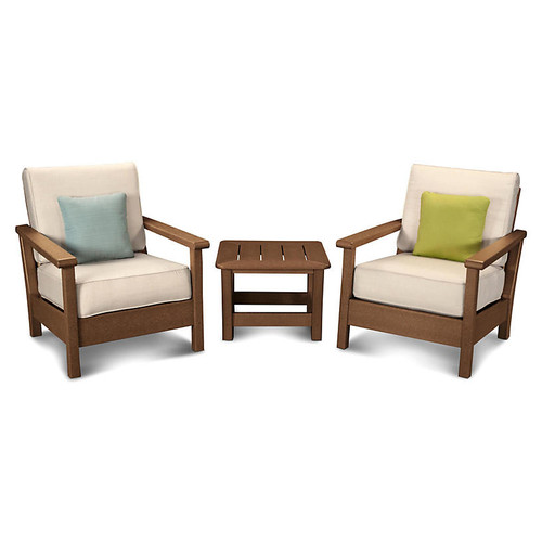 Harbour 3-Pc Deep-Seating Set, Beige