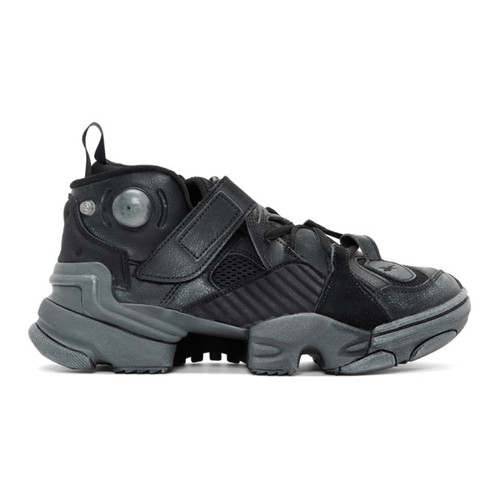 Black Reebok Edition Genetically Modified Pump High-Top Sneakers