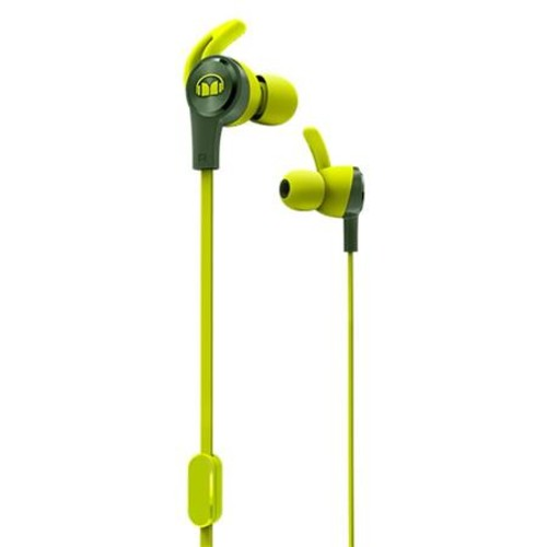 Monster Cable iSport Achieve In-Ear Headphones with Mic, Green