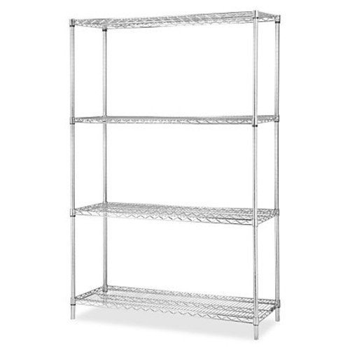 Lorell Industrial Wire Shelving Add-on Unit - 36