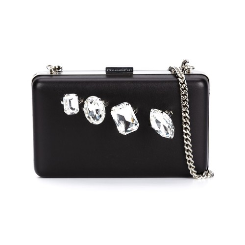 STELLA MCCARTNEY Jewelled Knuckle Clutch