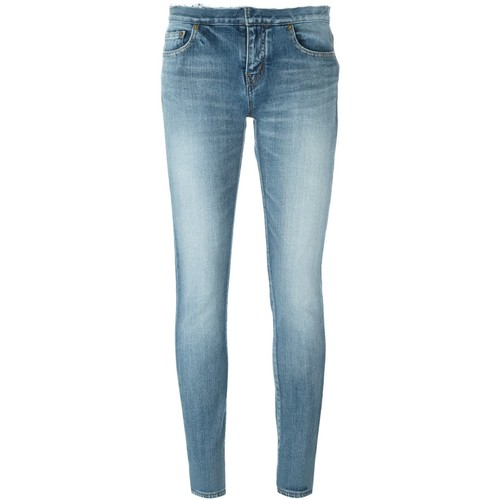 SAINT LAURENT Stonewashed Skinny Jeans