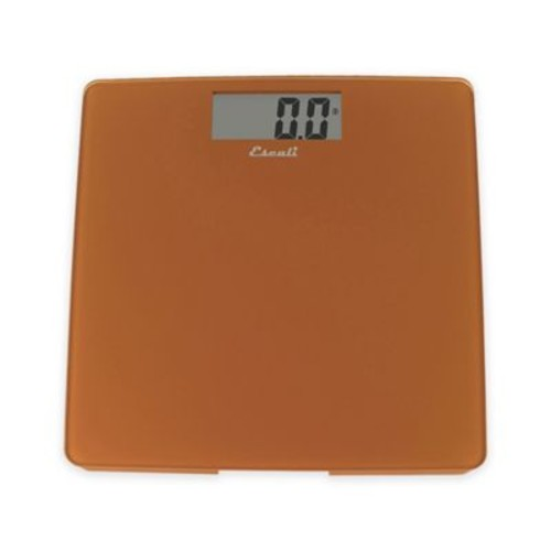 Glass Digital Bath Scale in Cinnamon