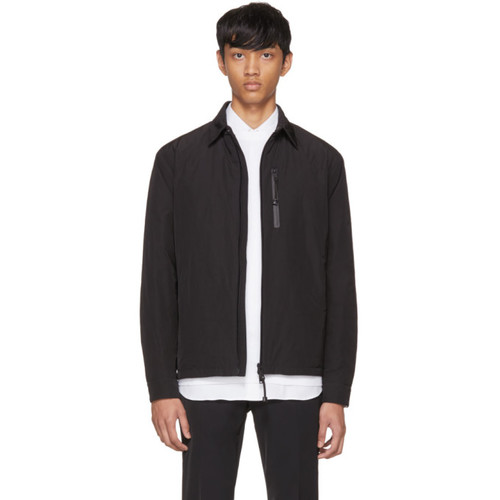 PRADA Black Zip-Up Shirt Jacket