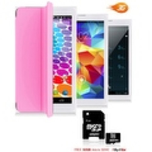 Indigi Unlocked 3G (2-in-1) SmartPhone & TabletPC w/ Built-In SmartCover + Bluetooth Sync + WiFi + 32gb microSD(Pink) - Pink