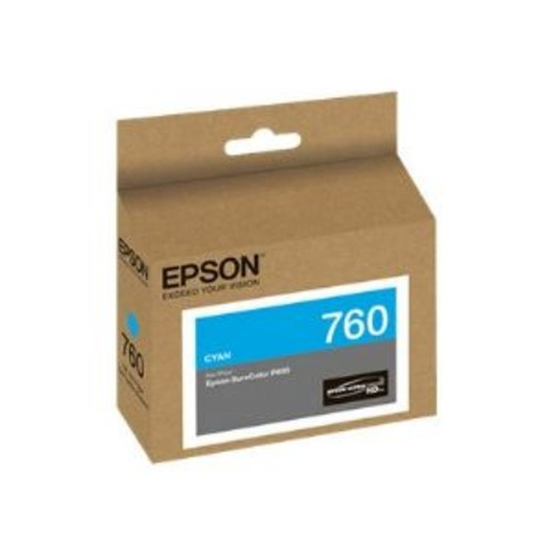Epson 760 - Cyan - original - ink cartridge - for SureColor P600, SC-P600 (T760220)