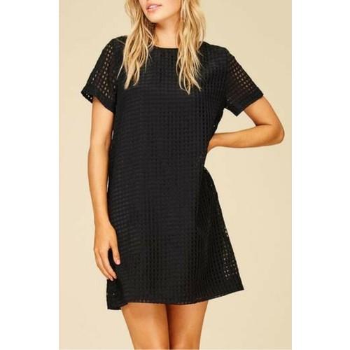 Mesh Shirt Dress