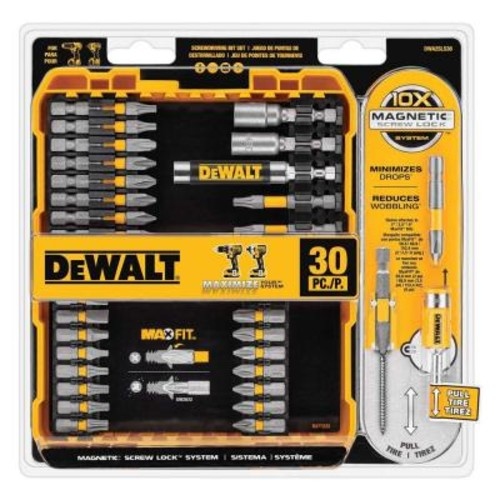 DEWALT MAXFIT Driving Bit Set (30-Piece)