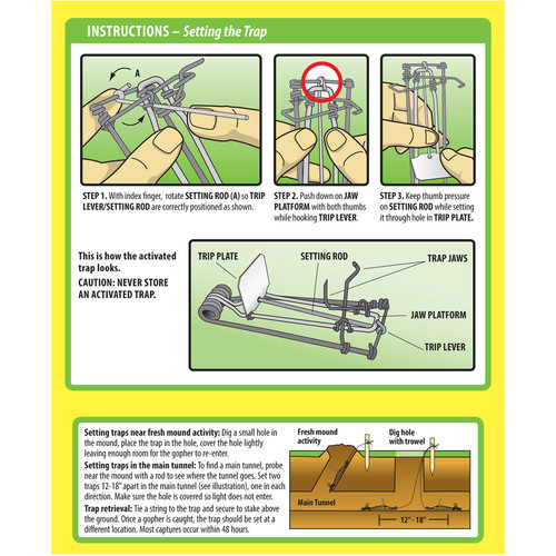 Sweeney's Gopher Trap, 2 Pack S9013 [One box of 2 traps]