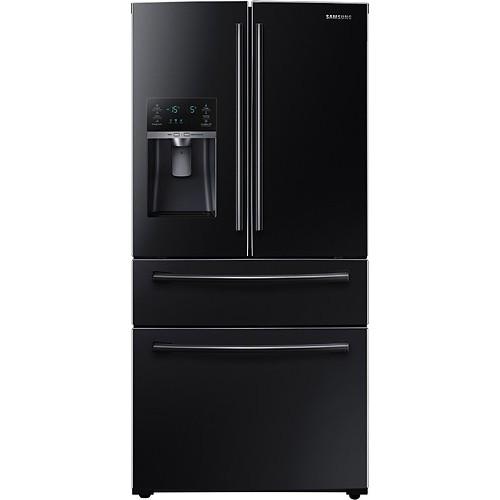Samsung - 28.15 Cu. Ft. 4-Door French Door Refrigerator with Counter-Height FlexZone Drawer - Black