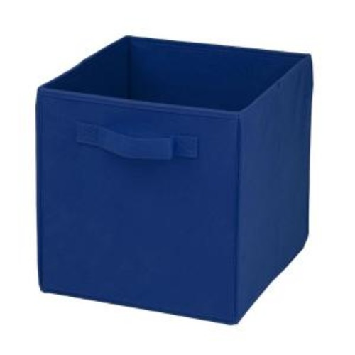 Honey-Can-Do 22 Qt. Non-Woven Foldable Cube Bin Blue (4-Pack)