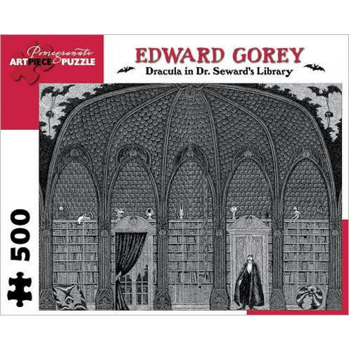 Edward Gorey - Dracula in Dr. Seward's Library : 500 Piece Puzzle
